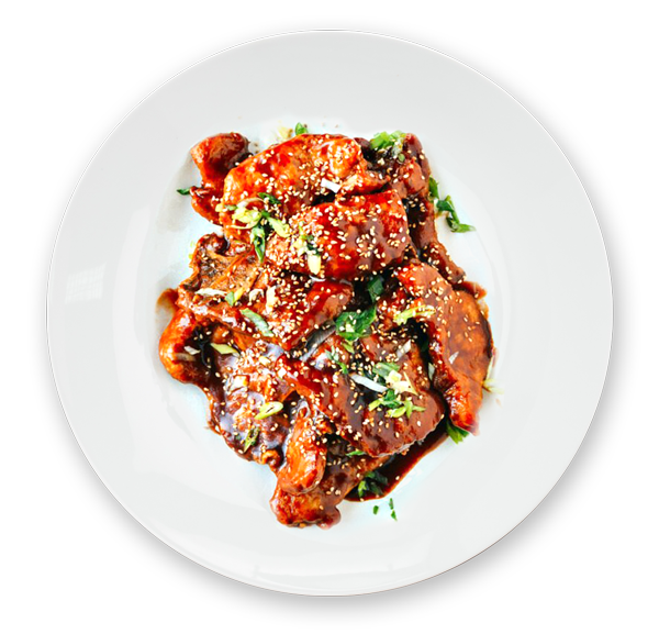 Pork chops with sweet and sour